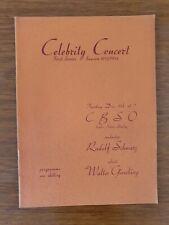 Walter Gieseking Signed CBSO Program 1953