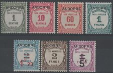 "ANDORRE STAMP TAXE 9 / 15 "" SERIE 7 TIMBRES "" NEUFS xx TTB VALEUR : 1335€  K631"