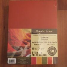 "NEW ~ RECOLLECTIONS ~ CARDSTOCK PAPER ~ 8.5"" X 11"" ~ SPICE MARKET ~ 50 SHEETS"