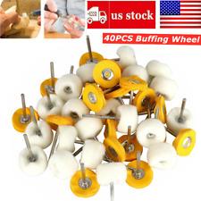 40Pcs 25mm Abrasive Buffing Polishing Grinding Brush Wheels Dremel Rotary Tool