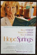 HOPE SPRINGS Movie Poster 27x40 2-Sided Authentic Meryl Streep Tommy Lee Jones