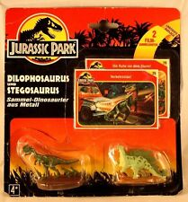 Vintage Jurassic Park 1993 Dilophosaurus and Stegosaurus 2 piece set with cards