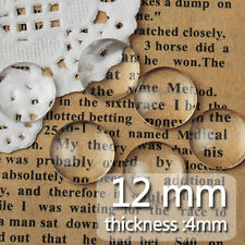 200Pcs 12MM Clear Round Flat Back Crystal Glass Dome Cabochons C1054