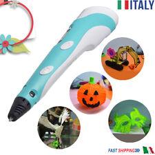 Penna 3D Per Stampa Stereoscopica Con 10m Filamenti Inclusi 3D Penna ITALIA