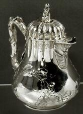 New listing Antique LaForme Pitcher c1850 Mask Face Spout Silver