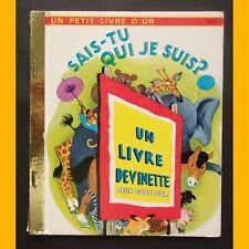 Petit Livre d'Or SAIS-TU QUI JE SUIS ? Livre Devinette R. Leon C. De Witt 1990