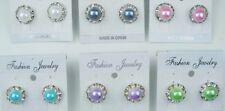 Wholesale jewelry Lot Small cute Style pearls Colorful Stud Fashion Earring YW69