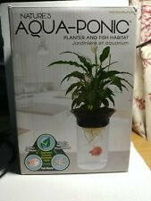 Penn Plax Nature's Aqua-Ponic Planter/Betta Fish Habitat-1/2 gallon-New/unused