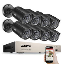 ZOSI 8CH 720P TVI/CVI/AHD/960H DVR 1500TVL Caméra 20M IR 3.6mm Lens Système CCTV