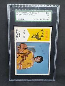 1974-75 O-Pee-Chee WHA #6 Bryan Campbell SGC 7 NM RARE !!