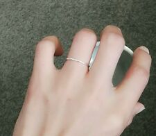 6.5# 925 solid sterling silver ring above knuckle simple circle ring stylish gf