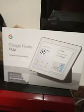 Sealed Brand New Google Nest Hub with Built-In Google Assistant, gray.