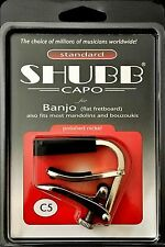 SHUBB C5 BANJO CAPO FLAT FRETBOARD ALSO FITS MOST MANDOLINS AND BOUZOUKIS