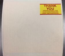 """Case of """"Thank You"""" Toledo 315Et Scale Labels, 4"""" Core (19,000 Labels/Case)"""