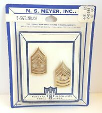 US ARMY STAFF SERGEANT MAJOR Vietnam Era Pins Uniform Insignia NS Meyer Vintage