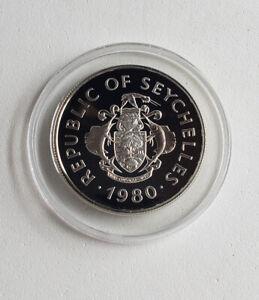 1980 Seychelles 50 Rupees Proof Silver International Year Child KM#42 w/ COA