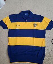 BOCA JUNIORS Argentina Jersey Shirt Polo Warm Up XXL Vintage MARADONA CABJ