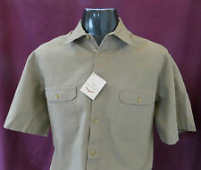 Linen Patternless Loose Fit Casual Shirts & Tops for Men