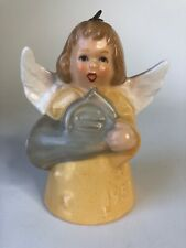 1982 Goebel Angel Bell Ornament Vintage Yellow With French Horn