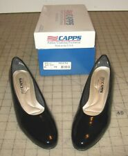 CAPPS AIRLITE Women's BLACK PATENT LEATHER CLASSIC PUMPS 6 M - New in Box