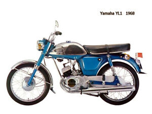 Motorcycle Canvas Picture Yamaha YL1 1968 Canvas 16x12 inch