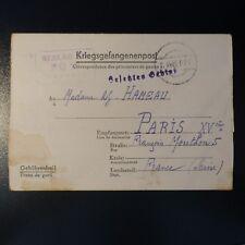 LETTRE PRISONNIER DE GUERRE STALAG II D 02.10.42 KRIEGSGEFANGENENPOST POW