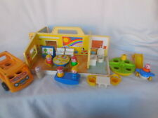 Toys Vintage Fisher Price School Collectible 1978  Preschool  23 Pieces Rare
