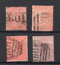 4x Regina Vittoria timbri utilizzati all' estero ALESSANDRIA (difetti)