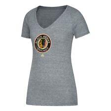 Adidas Mujer NHL Chicago Blackhawks Tri Blend Heritage Camiseta Gris