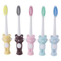 Bebé cepillo de dientes suaves dibujos animados oso entrenamiento dental cuidadK