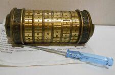 Da Vinci Lock Code Puzzle Box Birthday Gift Letter Escape Password Room Props