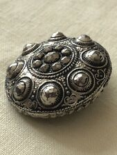 Striking Large 19th Century Silver Metal With Cut Steel Antique Button 30mm