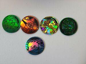 5x Mixed Pokemon Flip Coin Lot - M/NM