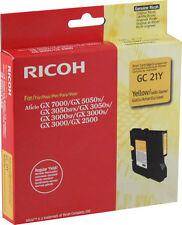 original RICOH GC 21Y GC21Y 405535 Gel ink gelb neu A-Ware MHD 11/2017 -03/2018