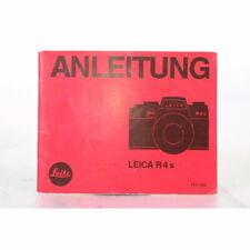 Leitz / Leica R4s Anleitung - Gebrauchsanweisung - Bedienungsanleitung - DEUTSCH
