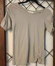 Synergy Organic Clothing Moss Green Short Sleeve Tee Top Sz. Medium