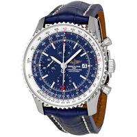 Breitling Navitimer World Blue Dial Chronograph Mens Watch A2432212-C651BLCD