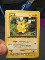 1st EDITION Red Cheeks Pikachu Jungle Original English WOTC 60/64 Pokemon NM