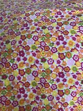 Waverly Orange Yellow Pink Floral Cotton Fabric Quilting 1 1/2 Yds F20 Calico