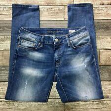 Mavi Angie Mid Rise Slim Straight Jeans Women's 12 (W29 L28) Light Wash Stretch