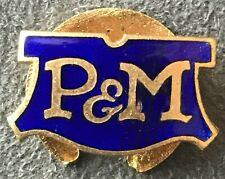 P&M PHELAN & MOORE PANTHER ENAMEL MOTORCYCLE LAPEL PIN BADGE