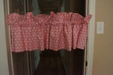 Tadpole Pink and White Polka Dot Tailored Valance