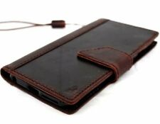 genuine natural vintage leather Case fit apple iphone 6s plus book wallet cover