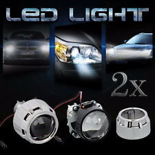 "2X MINI 2.5"" HID BI-XENON PROJECTOR LENS KIT HID HEADLIGHT & SHROUD H1 H4 H7 RHD"