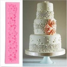 3D Pearl Bead Bubble Silicone Mould Wedding Cake Border Lace Mold Decorating