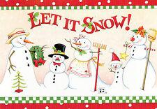 Mary Engelbreit-Let It Snow! Snowman Family-Sunrise Christmas Card-New!
