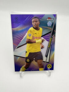 2021 Topps Finest UCL Youssoufa Moukoko SP Purple Rookie RC Card /250