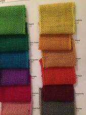 """2 1/2"""" Wired Burlap Ribbon - 10 yards - Craft Supplies- Made in USA"""