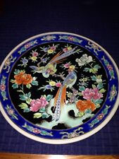 Vintage Nippin Floral Plate With Birds Of Paradise