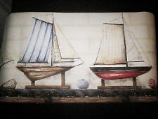 Sailboats Wallpaper Wall Border boats model ships ocean beach style wall decor